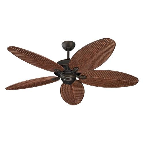 Monte Carlo Fans 5CU52RB Cruise 5 Blade 52 Inch Outdoor Ceiling Fan with Pull Chain Control