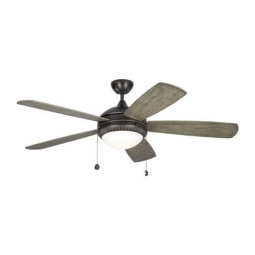 Monte Carlo Fans 5DIO52 Discus Ornate - 5 Blade Ceiling Fan with Pull Chain Control and Includes Light Kit in Traditional Style - 52 Inches Wide by 15.6 Inches High