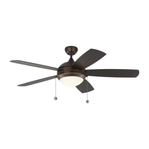 Monte Carlo Fans 5DIW52 Discus Outdoor - 52 Inch 5 Blade Ceiling Fan with Light Kit