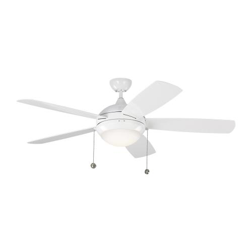 Monte Carlo Fans 5DIW52 Discus Outdoor - 5 Blade Ceiling Fan with Light Kit in Modern Style - 52 Inches Wide by 15.4 Inches High