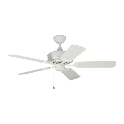 Monte Carlo Fans 5HVO44 Haven - 5 Blade Outdoor Ceiling Fan with Pull Chain Control in Outdoor Style - 44 Inches Wide by 13.9 Inches High