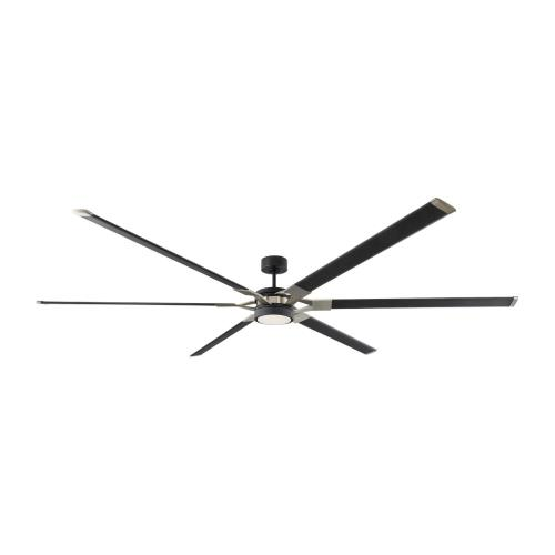 Monte Carlo Fans 6LFR96MBKD Loft 6 Blade 96 Inch Ceiling Fan with Handheld Control and Includes Light Kit