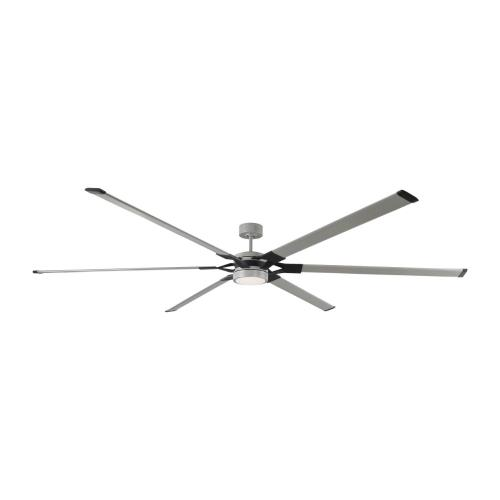Monte Carlo Fans 6LFR96PBSD Loft - 6 Blade Ceiling Fan with Handheld Control and Includes Light Kit in Style - 96 Inches Wide by 13 Inches High