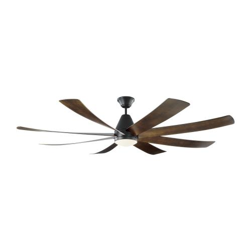 Monte Carlo Fans 8KGR72 Kingston - 8 Blade Ceiling Fan with Handheld Control and Includes Light Kit in Transitional Style - 72 Inches Wide by 17.3 Inches High