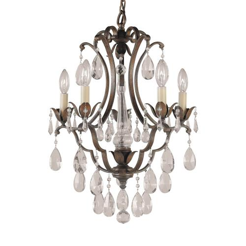 Feiss F1882/5BRB 5 Light Mini Duo Chandelier