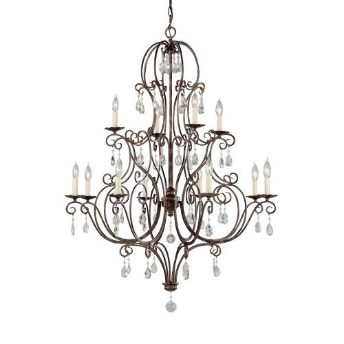 Feiss F1938/8+4 Chateau Chandelier 12 Light