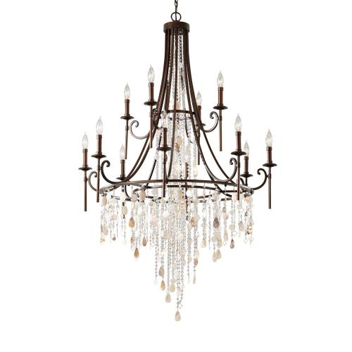 Feiss F2661/8+4HTBZ Cascade - Twelve Light Multi-Tier Chandelier
