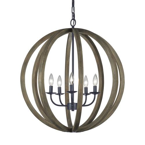 Feiss F2936/5 Allier - Five Light Large Pendant