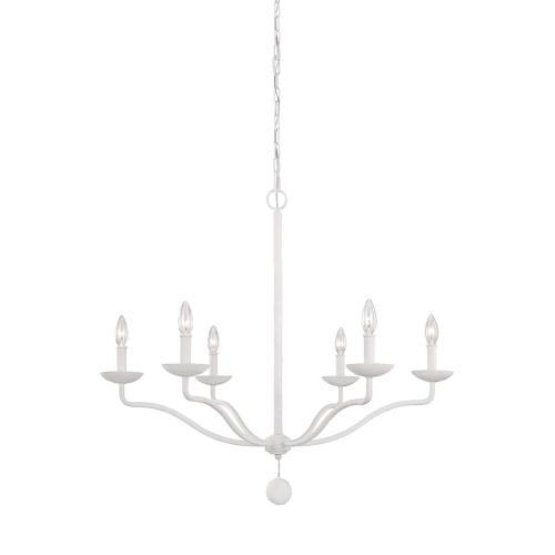 Feiss F3130/6 Annie - Chandelier 6 Light Steel in Traditional Style - 32.5 Inches Wide by 30 Inches High
