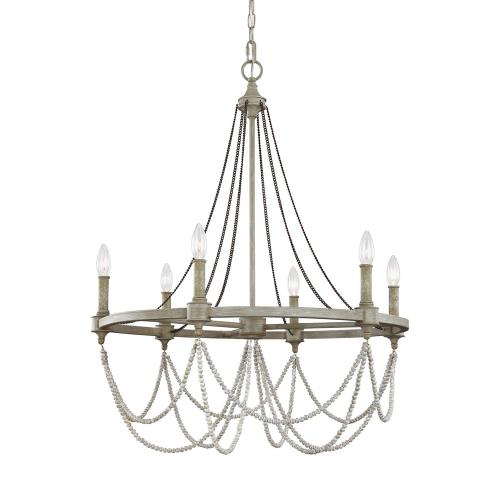 Feiss F3132/6FWO/DWW Beverly - Six Light Chandelier