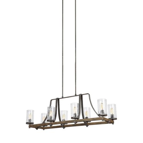 Feiss F3136/8 Angelo - Eight Light Island in Rustic Style - 16 Inches Wide by 16.5 Inches High
