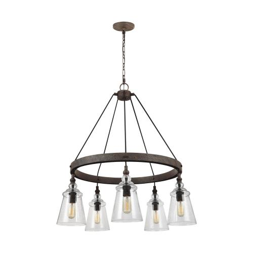 Feiss F3169/5 Loras - 5 Light Chandelier in Traditional Style - 28.63 Inches Wide by 35 Inches High