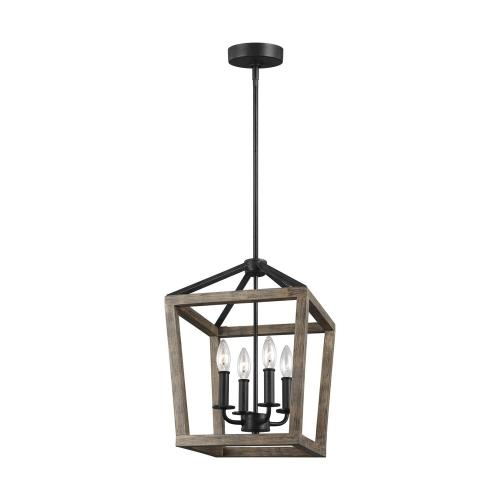 Feiss F3190/4WOW/AF Gannet Chandelier 4 Light Steel