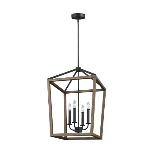 "Feiss F3191/4WOW/AF Gannet - 18"" Four Light Chandelier"
