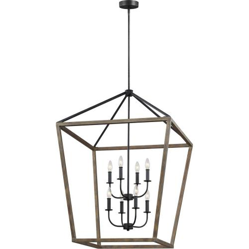 Feiss F3194/8 Gannet - Chandelier 8 Light Steel in Traditional Style - 26 Inches Wide by 43 Inches High