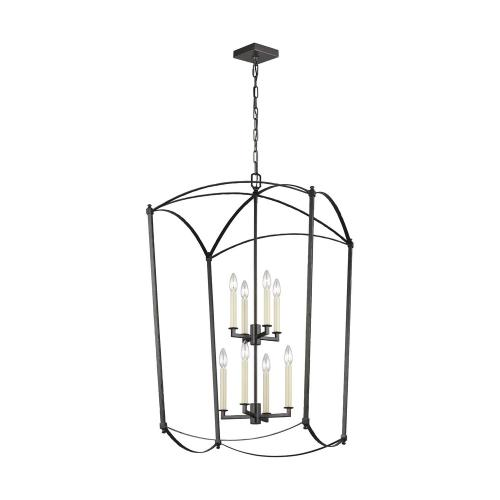 Feiss F3324/8 Thayer - 2-Tier Chandelier 8 Light Steel in Period Inspired Style - 24 Inches Wide by 40.88 Inches High