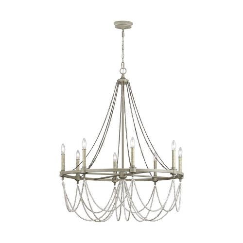 Feiss F3332/8 Beverly - Chandelier 8 Light Steel in Traditional Style - 36 Inches Wide by 44.75 Inches High
