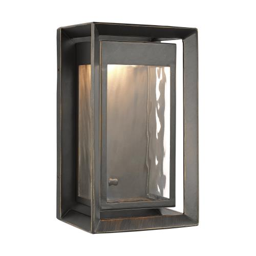 Feiss OL13700 Urbandale - 1 Light Outdoor LED Wall Lantern in Modern Style - 6 Inches Wide by 10 Inches High