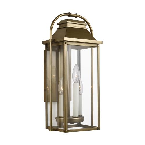 Feiss OL13200 Wellsworth - Outdoor Wall Lantern Transitional Cast Aluminum Approved for Wet Locations in Transitional Style - 8.5 Inches Wide by 18.25 Inches High