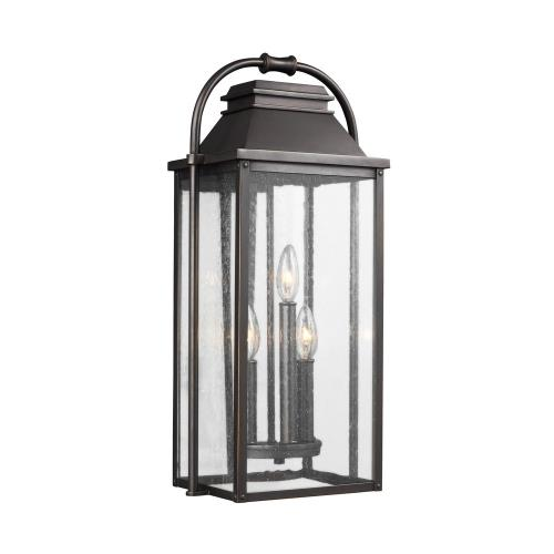 Feiss OL13201 Wellsworth - Outdoor Wall Lantern Transitional Cast Aluminum Approved for Wet Locations in Transitional Style - 10.5 Inches Wide by 22.5 Inches High