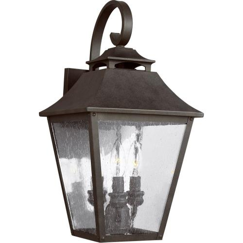 Feiss OL14403 Galena 19 Inch Outdoor Wall Lantern Stainless Steel Approved for Wet Locations