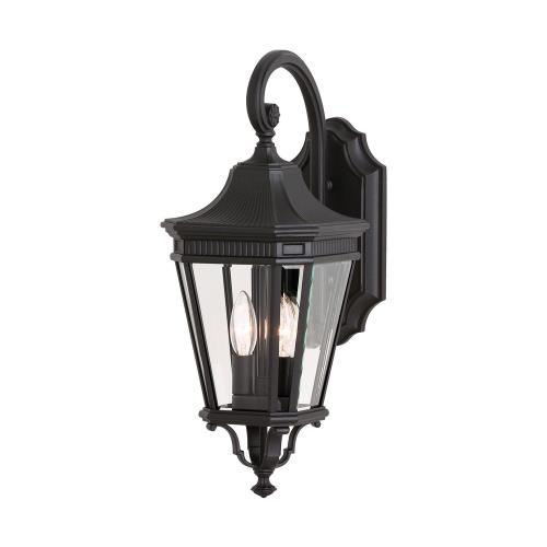 Feiss OL5401 Cotswold Lane - Outdoor Wall Lantern Traditional Aluminum Approved for Wet Locations in Traditional Style - 9 Inches Wide by 20.5 Inches High