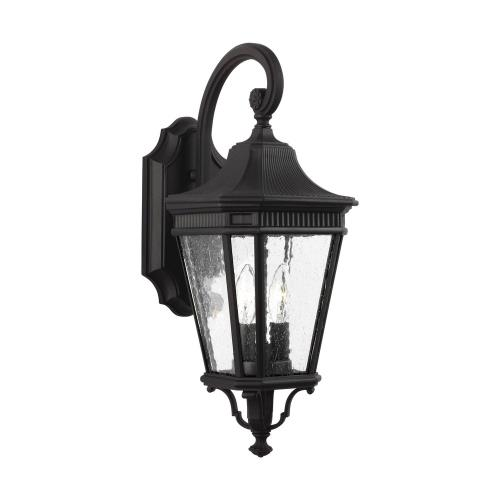 Feiss OL5421 Cotswold Lane - Outdoor Wall Lantern Traditional Aluminum Approved for Wet Locations in Traditional Style - 9 Inches Wide by 20.5 Inches High