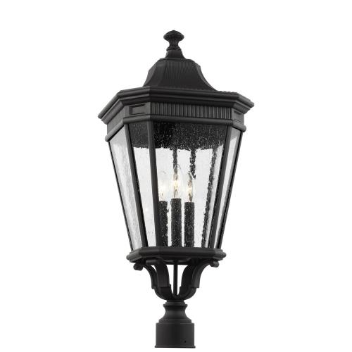 Feiss OL5428 Cotswold Lane - Three Light Outdoor Post Lantern in Traditional Style - 12 Inches Wide by 27.38 Inches High