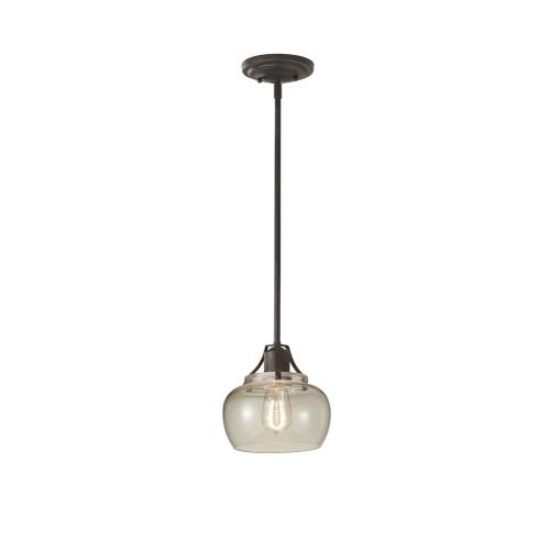 Feiss P1234 Urban Renewal - Mini-Pendant 1 Light in Period Inspired Style - 8 Inches Wide by 8 Inches High