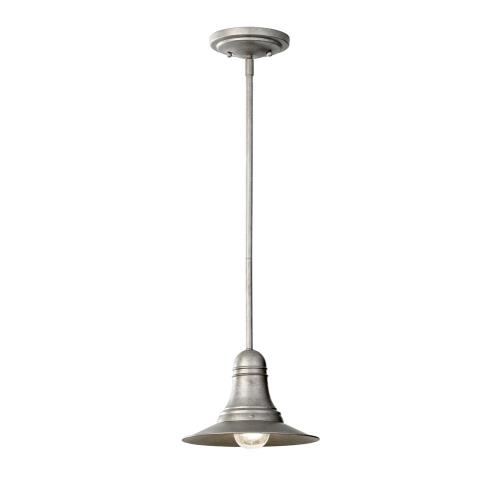 Feiss P1237 Urban Renewal - Large Pendant 1 Light in Period Inspired Style - 9 Inches Wide by 6.75 Inches High