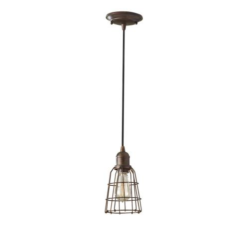 Feiss P1246 Urban Renewal - Mini-Pendant 1 Light in Period Inspired Style - 5.19 Inches Wide by 9.19 Inches High