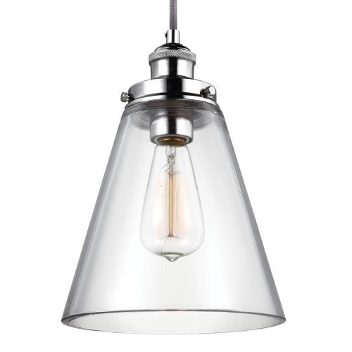 Feiss P1347 Baskin - Pendant 1 Light in Modern Style - 8.5 Inches Wide by 11.63 Inches High