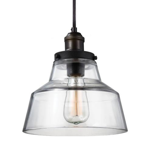 Feiss P1348 Baskin - Pendant 1 Light in Modern Style - 10 Inches Wide by 10.38 Inches High