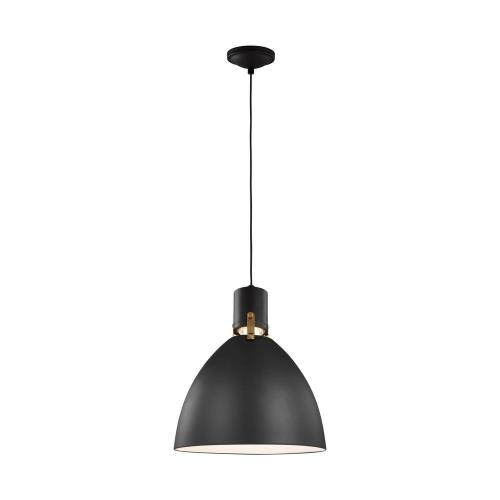 Generation Lighting P1442 Sean Lavin-Pendant 1 Light in Contemporary Style-14.13 Inches Wide by 17 Inches Tall