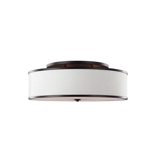 Feiss SF340 Lennon - Five Light Semi-Flush Mount in Transitional Style - 30.25 Inches Wide by 11.5 Inches High