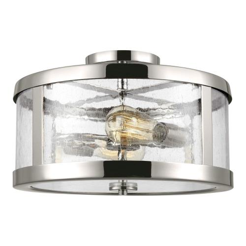 Feiss SF341 Harrow - Two Light Semi Flush Mount in Modern Style - 15 Inches Wide by 10.13 Inches High