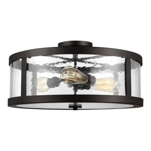 Feiss SF342 Harrow - Three Light Semi Flush Mount in Modern Style - 19.63 Inches Wide by 10.13 Inches High