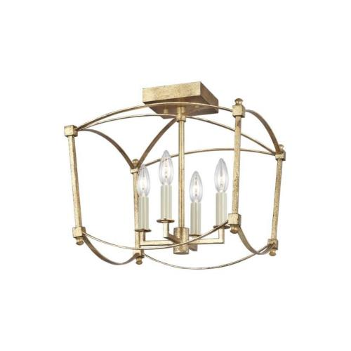 Feiss SF350 Thayer - 4 Light Semi-Flush Mount in Period Inspired Style - 14.38 Inches Wide by 13.88 Inches High