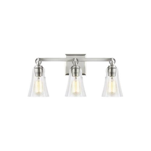 Feiss VS24703 Monterro - 3 Light Transitional Bath Vanity Approved for Damp Locations in Transitional Style - 21.75 Inches Wide by 9.5 Inches High