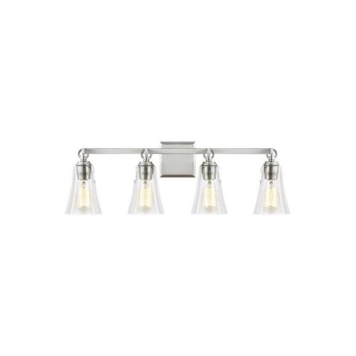 Feiss VS24704 Monterro 4 Light Transitional Bath Vanity Approved for Damp Locations