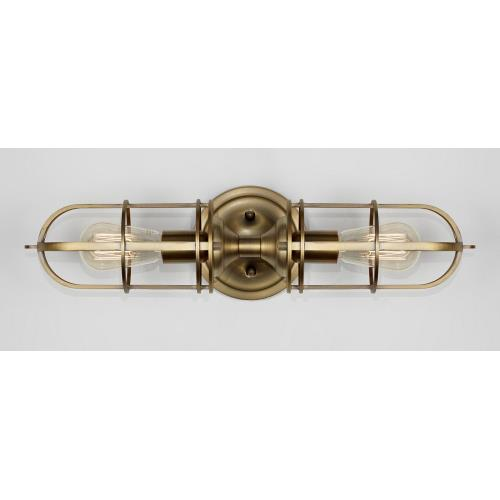 Feiss WB1704 Urban Renewal - Two Light Wall Bracket in Period Inspired Style - 5.5 Inches Wide by 20.25 Inches High