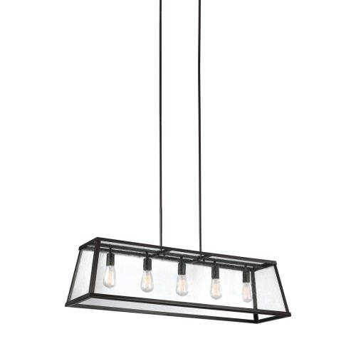 Feiss F3073/5 Harrow - Five Light Island in Modern Style - 12 Inches Wide by 13 Inches High
