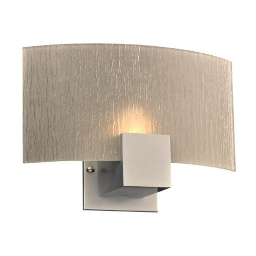 "PLC Lighting 1382SL Cubic - 12"" 7W 1 LED Wall Sconce"