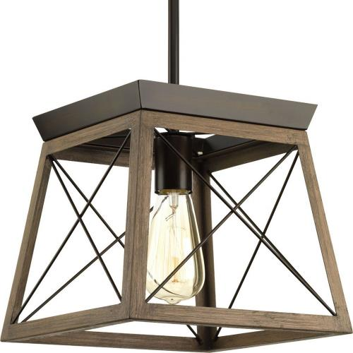 Progress Lighting P500041 Briarwood - One Light Mini-Pendant