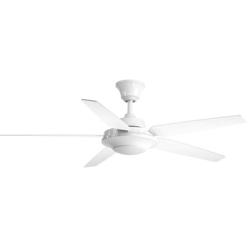 Progress Lighting P2539 AirPro Signature Plus II - Wide - Ceiling Fan - 1 Light - Handheld Remote in Modern style - 54 Inches wide by 15.25 Inches high