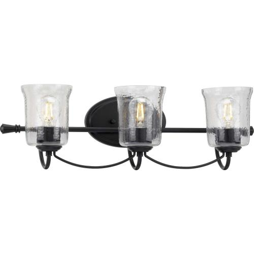 Progress Lighting P300255 Bowman - 3 Light - Bell Shade in Coastal style - 25 Inches wide by 7.75 Inches high