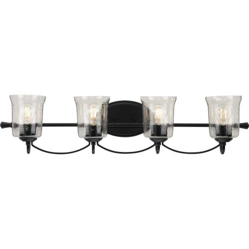 Progress Lighting P300256 Bowman - 4 Light - Bell Shade in Coastal style - 33.63 Inches wide by 7.75 Inches high