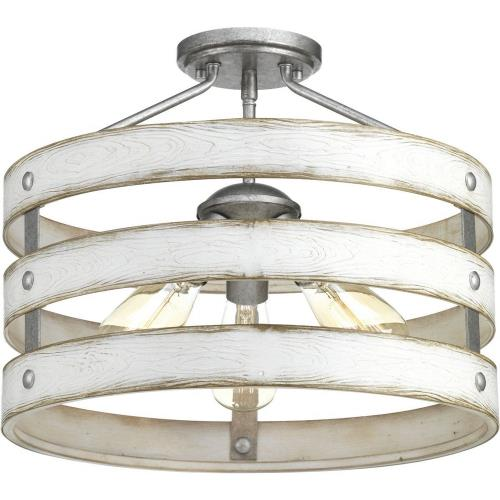 Progress Lighting P350049-141 Gulliver - Close-to-Ceiling Light - 3 Light in Coastal style - 17 Inches wide by 13.5 Inches high