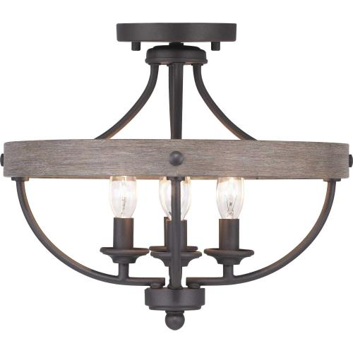 Progress Lighting P350117-4LM Gulliver - Close-to-Ceiling Light - 4 Light in Coastal style - 15.25 Inches wide by 12.63 Inches high