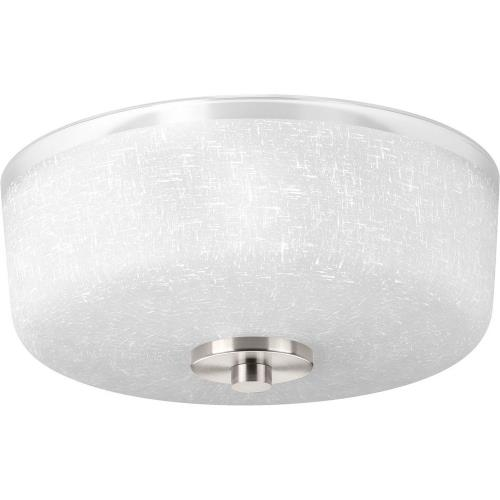 Progress Lighting P3620-09 Alexa - Close-to-Ceiling Light - 2 Light - Bowl Shade in Modern style - 12.25 Inches wide by 6.38 Inches high